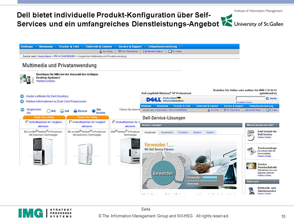Dell bietet individuelle Produkt-Konfiguration über Self- Services und ein umfangreiches Dienstleistungs-Angebot