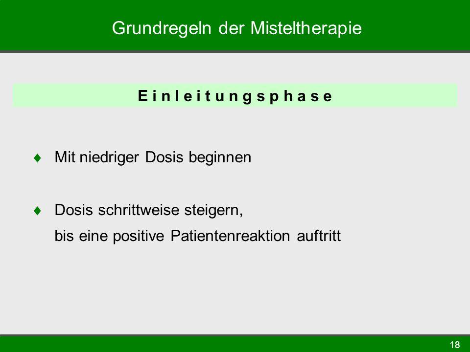 Grundregeln der Misteltherapie