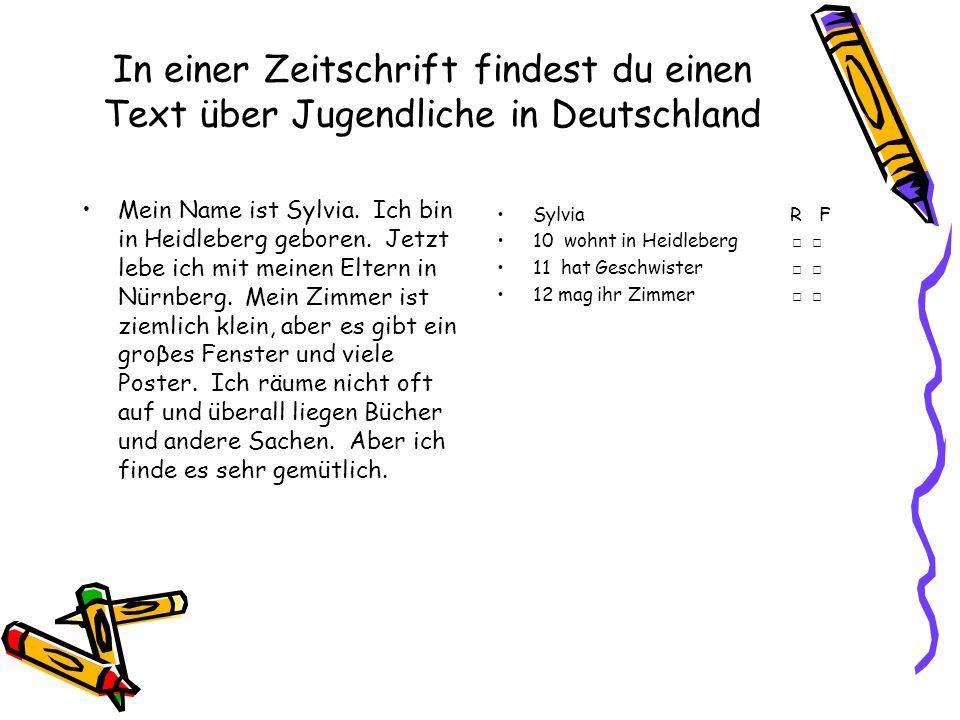 In einer Zeitschrift findest du einen Text über Jugendliche in Deutschland