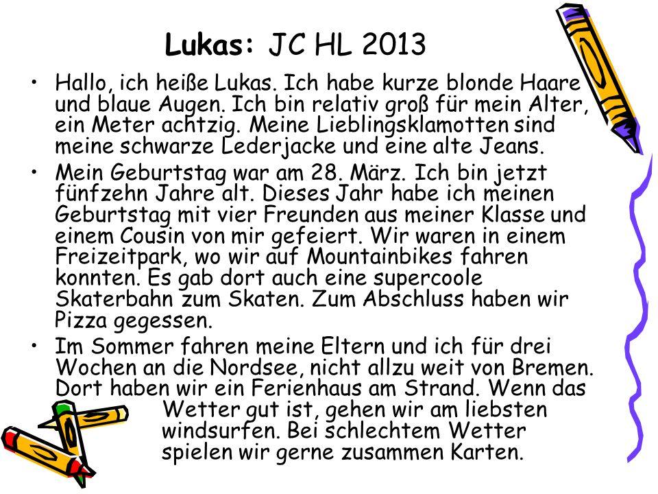 Lukas: JC HL 2013