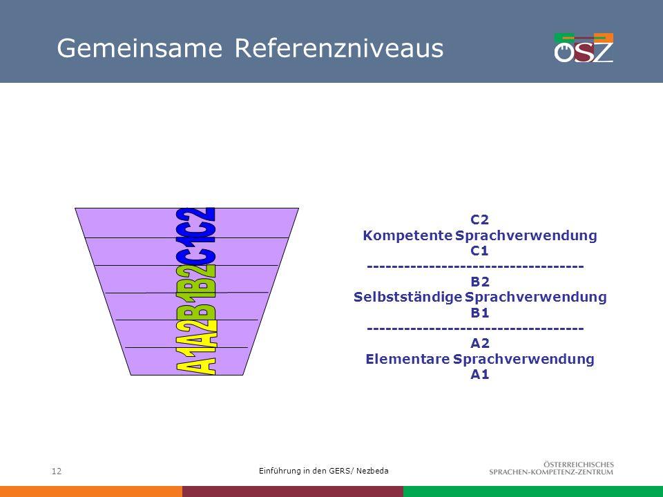 Gemeinsame Referenzniveaus