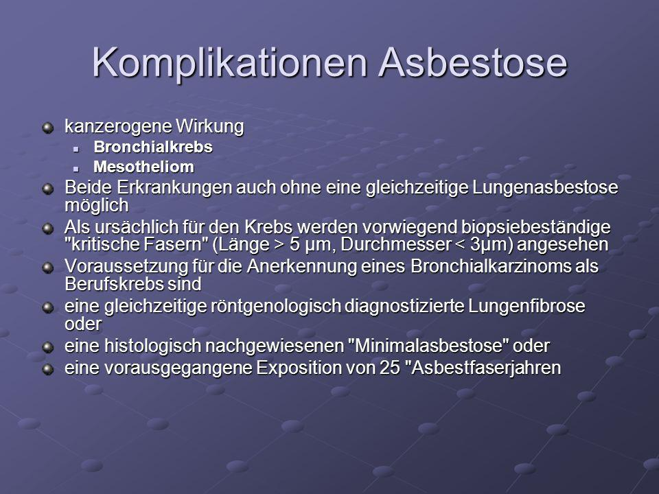 Komplikationen Asbestose