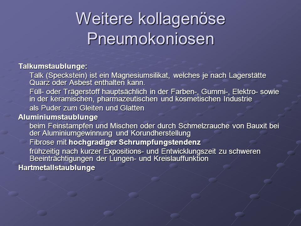 Weitere kollagenöse Pneumokoniosen