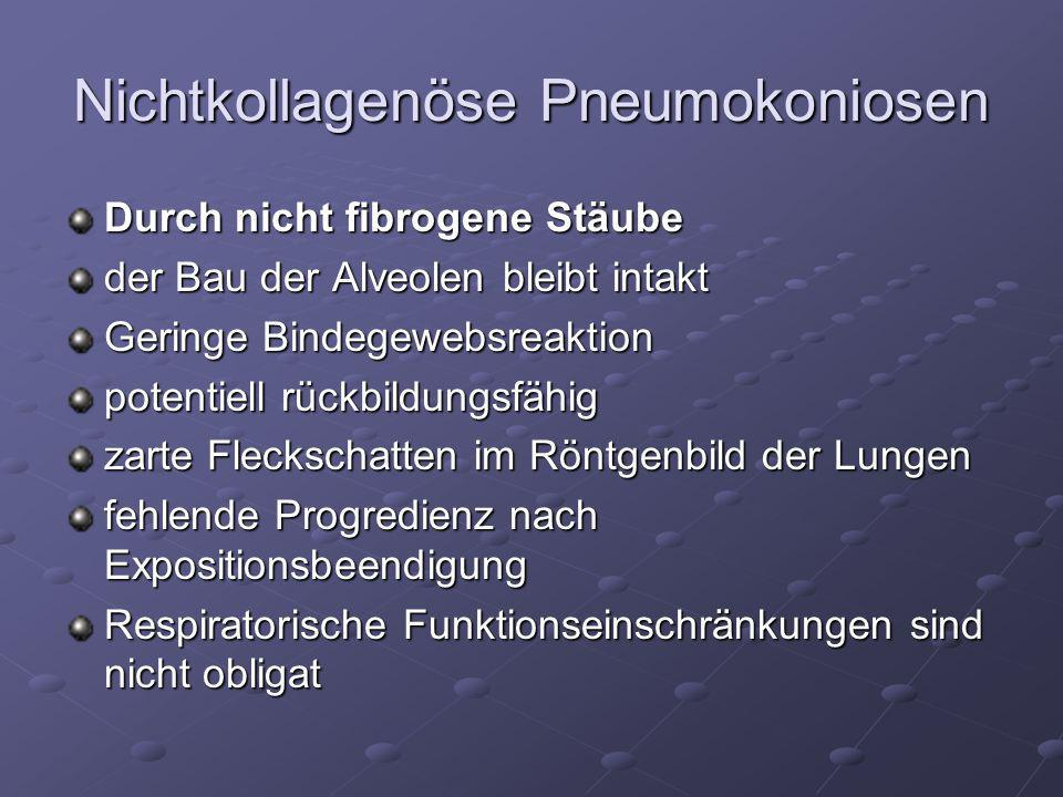 Nichtkollagenöse Pneumokoniosen