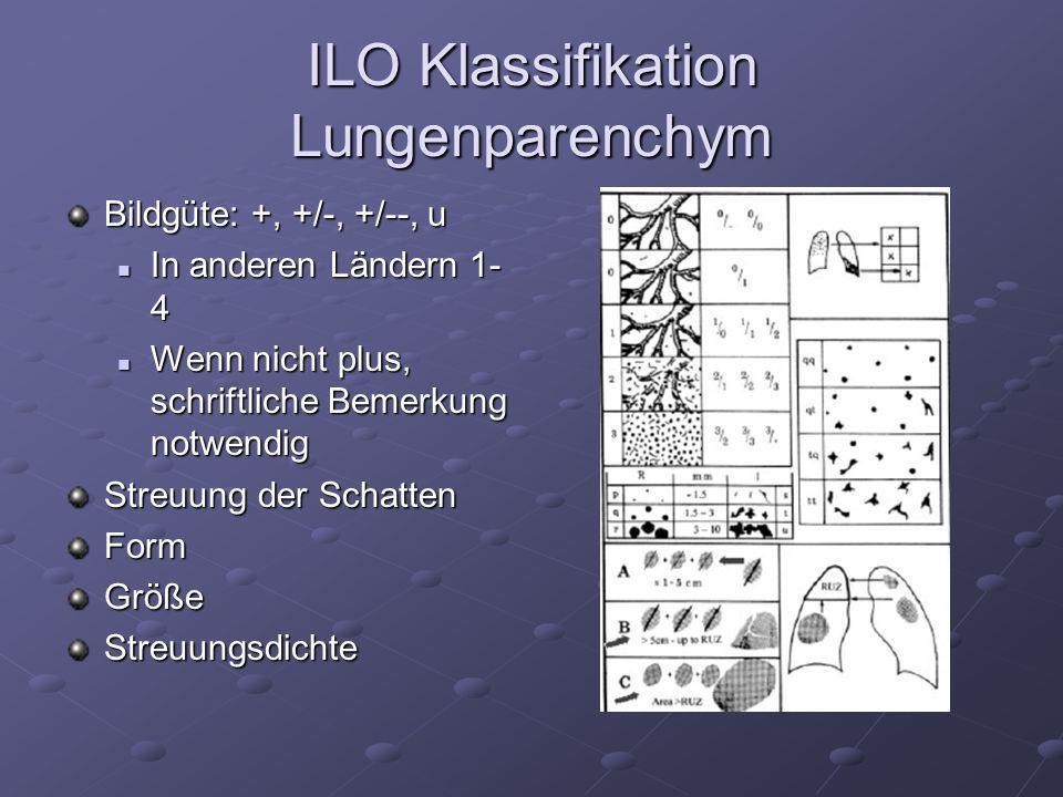 ILO Klassifikation Lungenparenchym