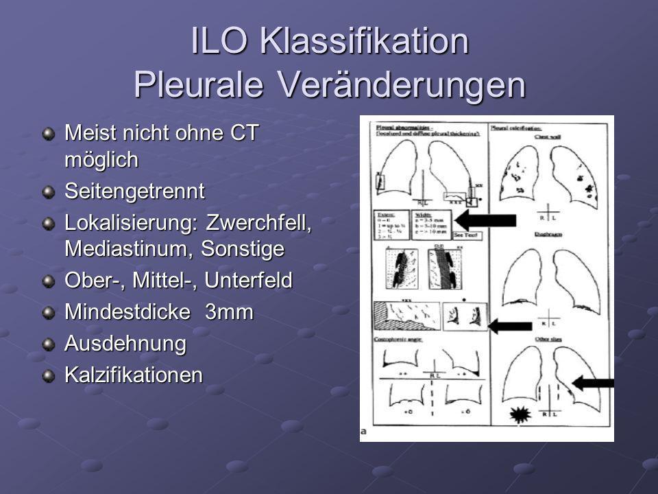ILO Klassifikation Pleurale Veränderungen