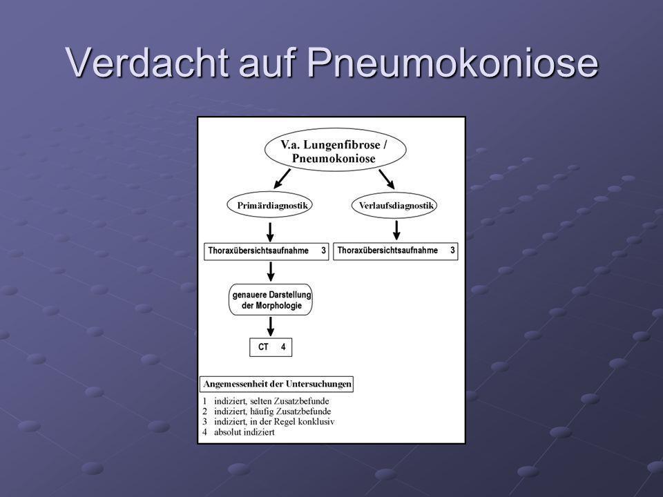 Verdacht auf Pneumokoniose