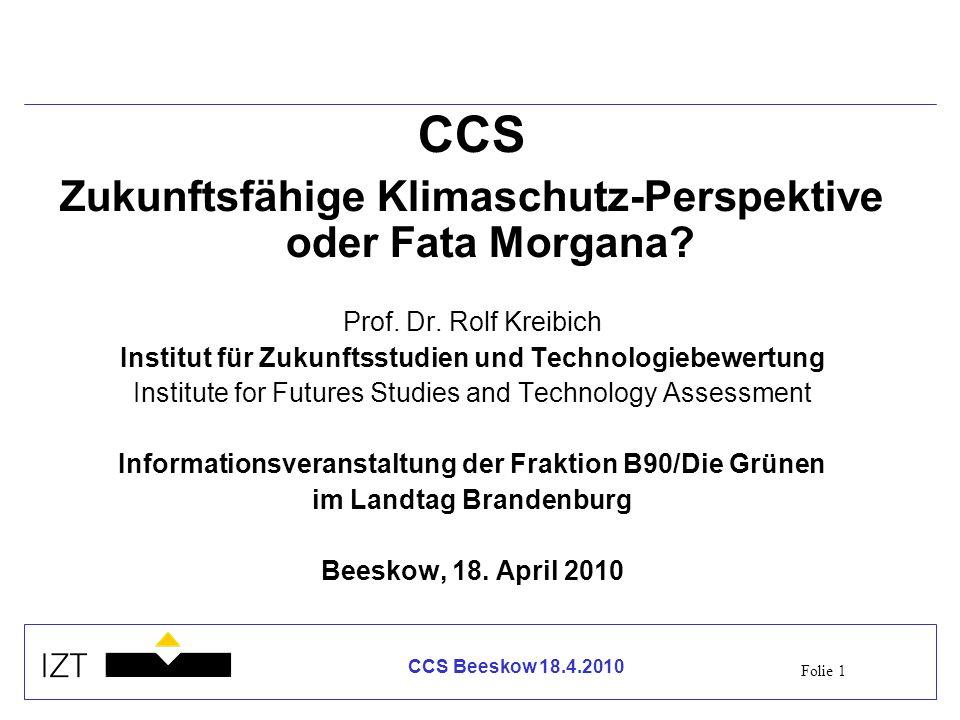 CCS Zukunftsfähige Klimaschutz-Perspektive oder Fata Morgana