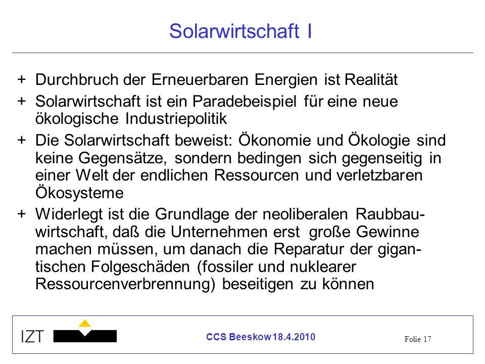 Solarwirtschaft I Durchbruch der Erneuerbaren Energien ist Realität