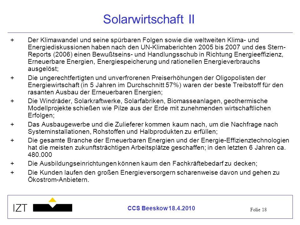 Solarwirtschaft II