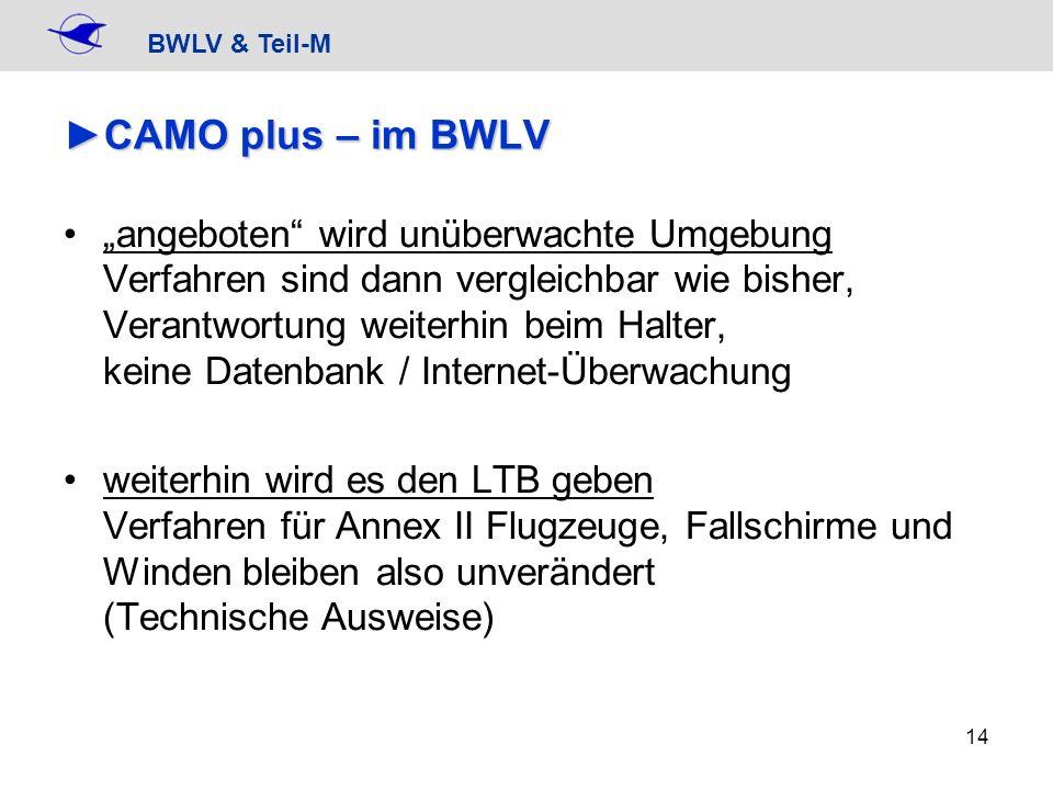 CAMO plus – im BWLV