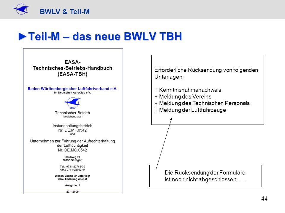 Teil-M – das neue BWLV TBH