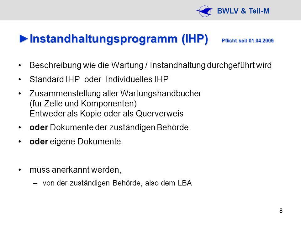 Instandhaltungsprogramm (IHP) Pflicht seit 01.04.2009