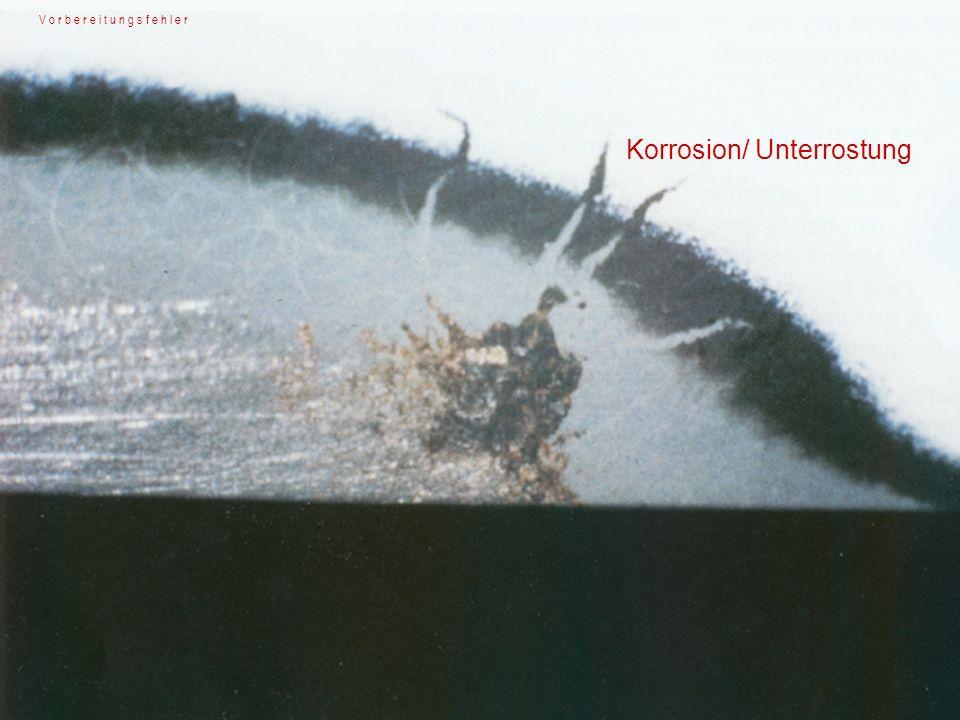 Korrosion/ Unterrostung