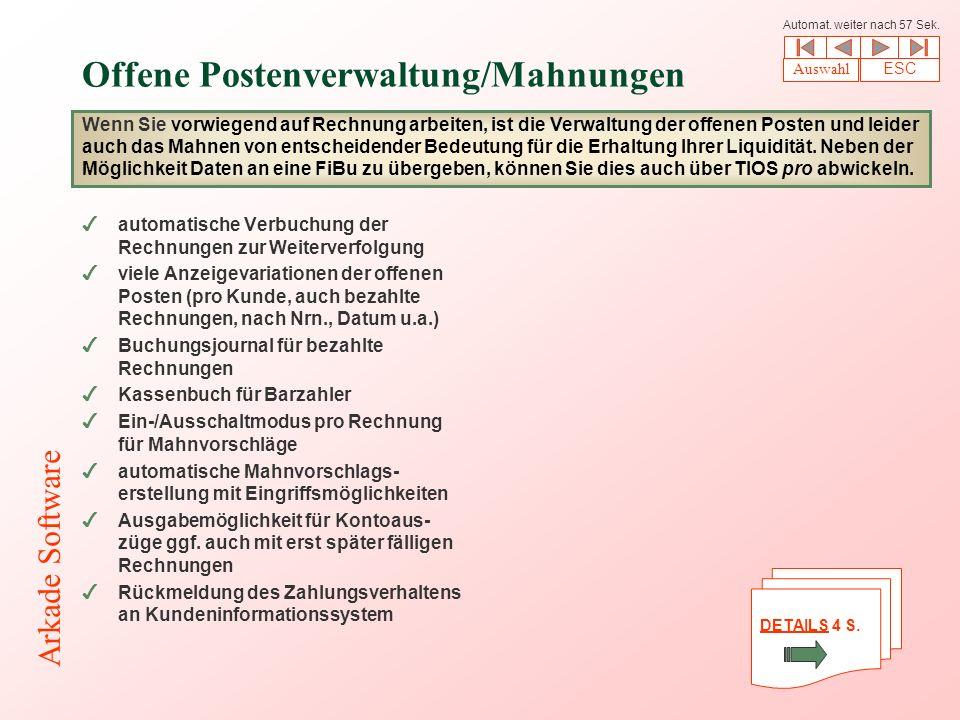 Offene Postenverwaltung/Mahnungen