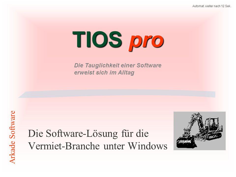 Die Software-Lösung für die Vermiet-Branche unter Windows