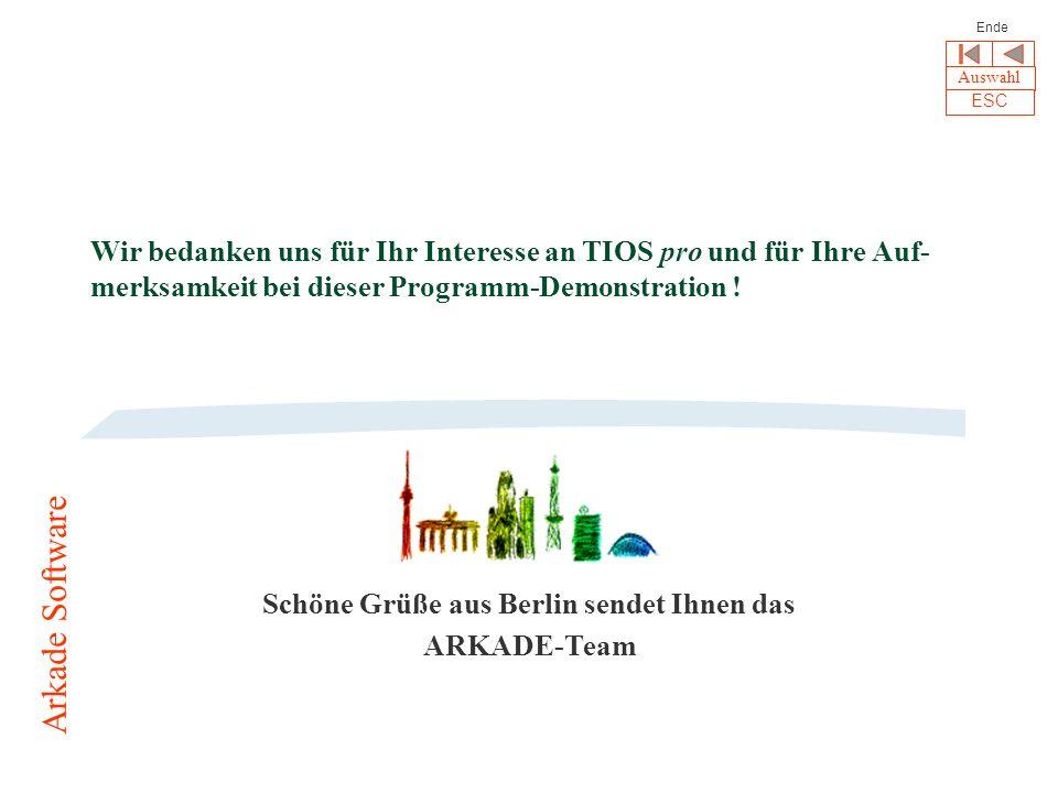 Schöne Grüße aus Berlin sendet Ihnen das ARKADE-Team