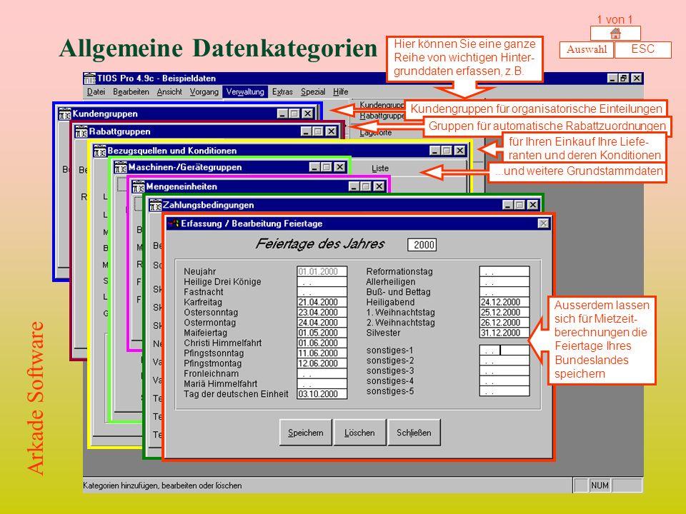 Allgemeine Datenkategorien
