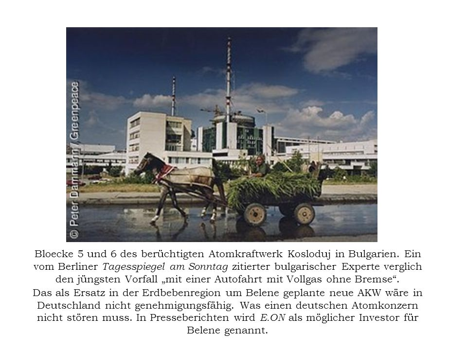 Bloecke 5 und 6 des berüchtigten Atomkraftwerk Kosloduj in Bulgarien