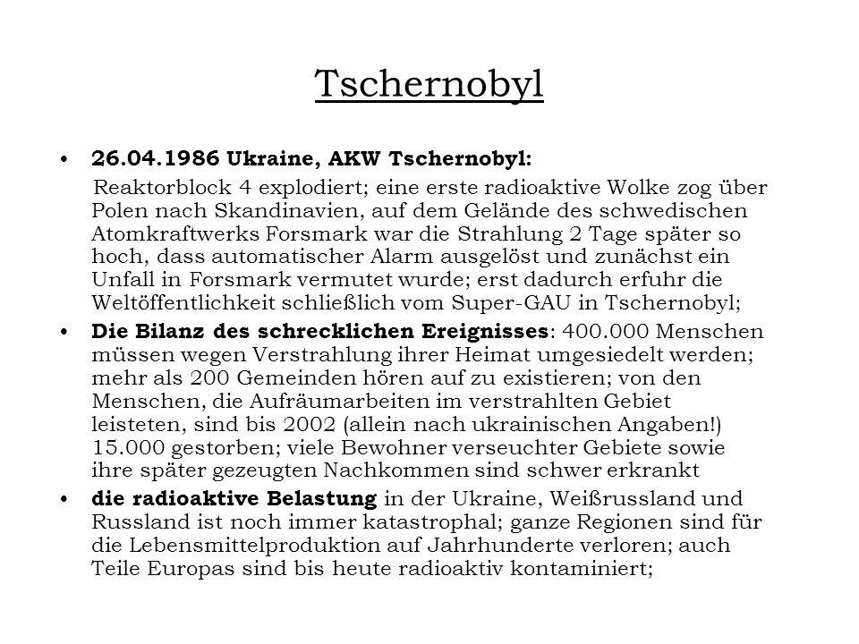 Tschernobyl 26.04.1986 Ukraine, AKW Tschernobyl: