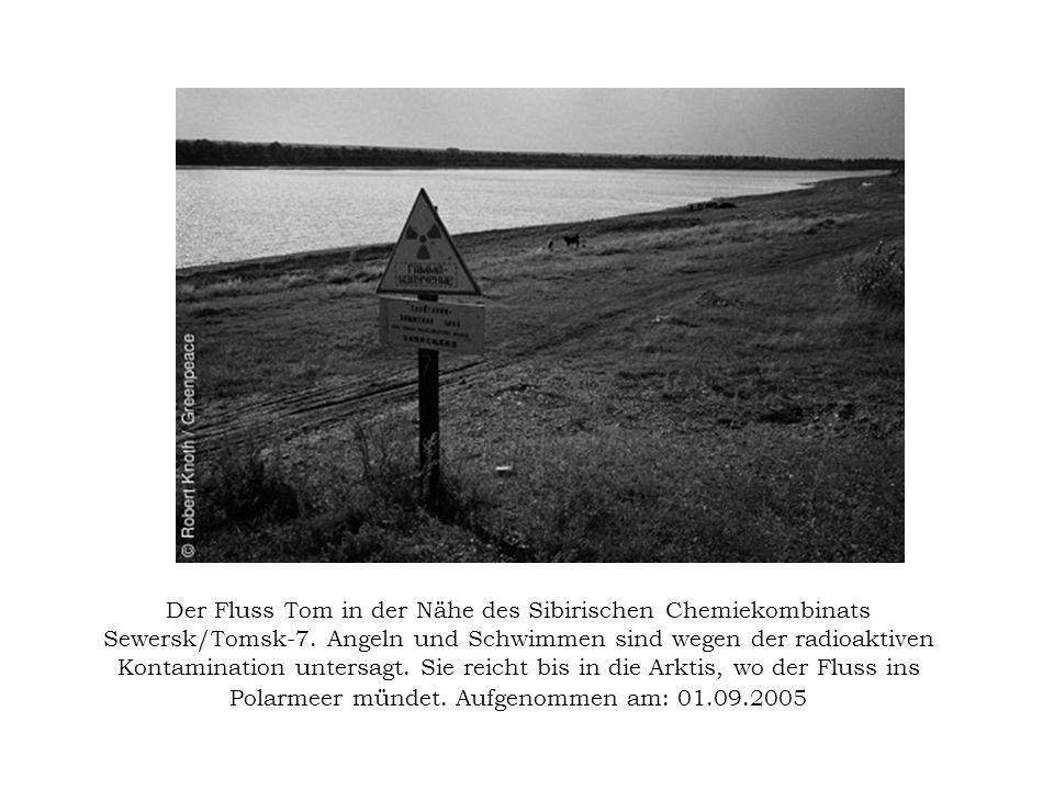 Der Fluss Tom in der Nähe des Sibirischen Chemiekombinats Sewersk/Tomsk-7.