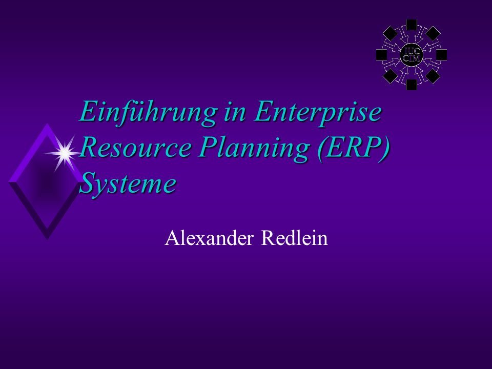 Einführung in Enterprise Resource Planning (ERP) Systeme