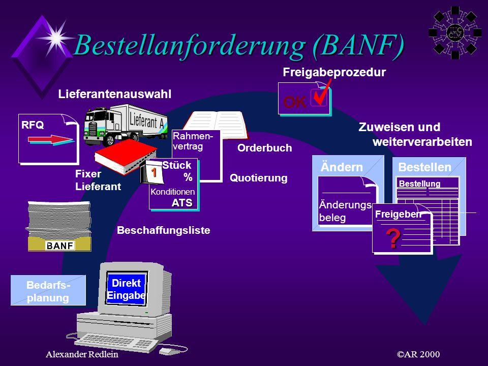 Bestellanforderung (BANF)