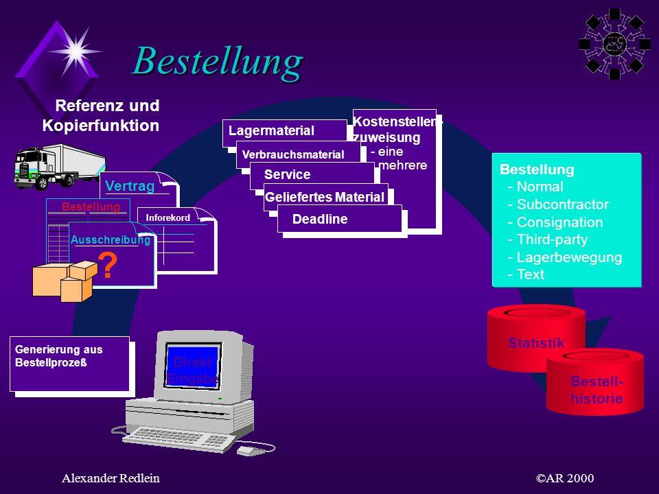 Bestellung Referenz und Kopierfunktion Bestellung - Normal Vertrag