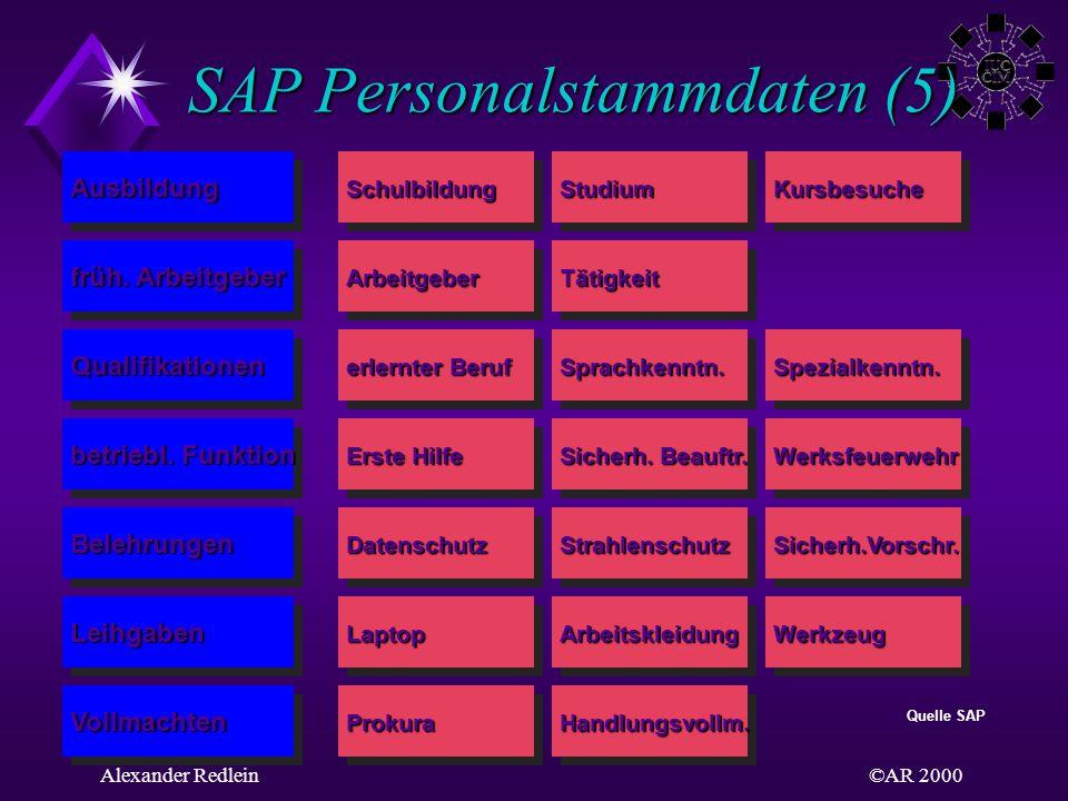SAP Personalstammdaten (5)