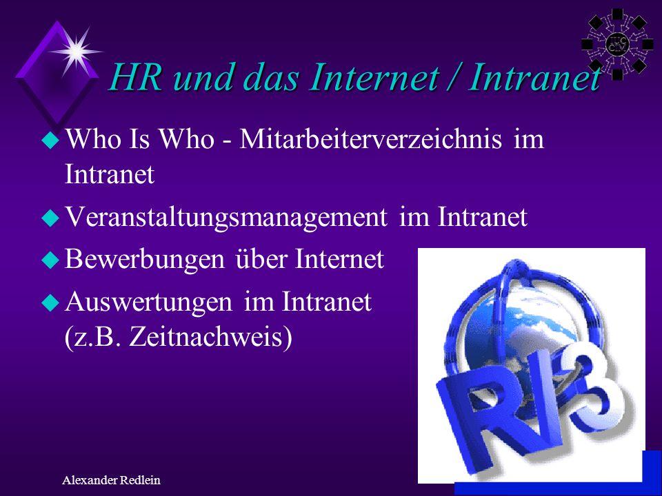 HR und das Internet / Intranet
