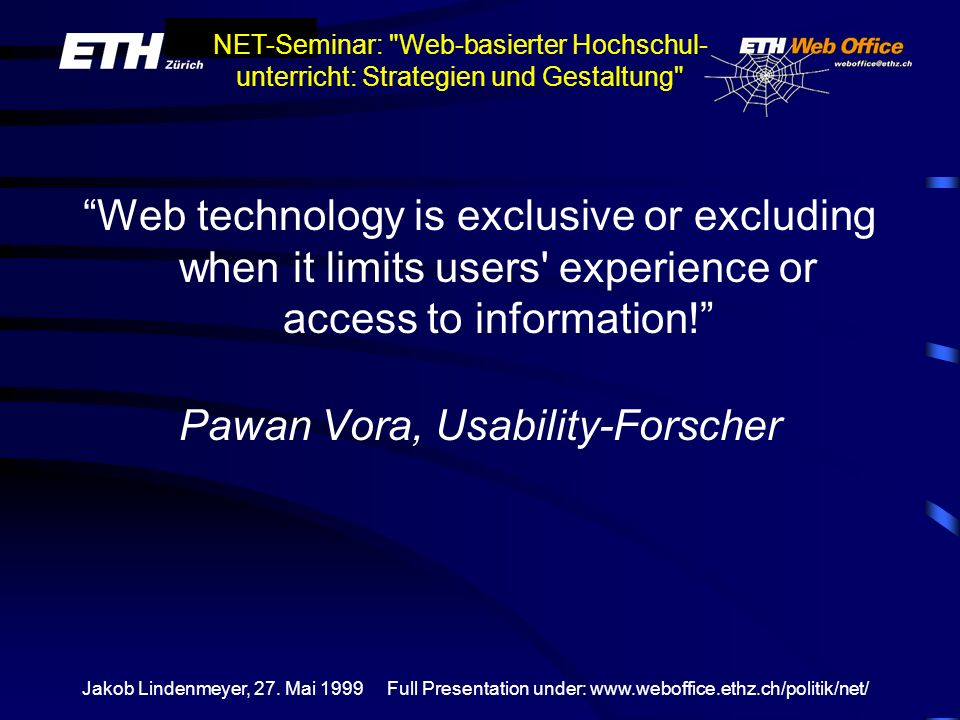 Pawan Vora, Usability-Forscher