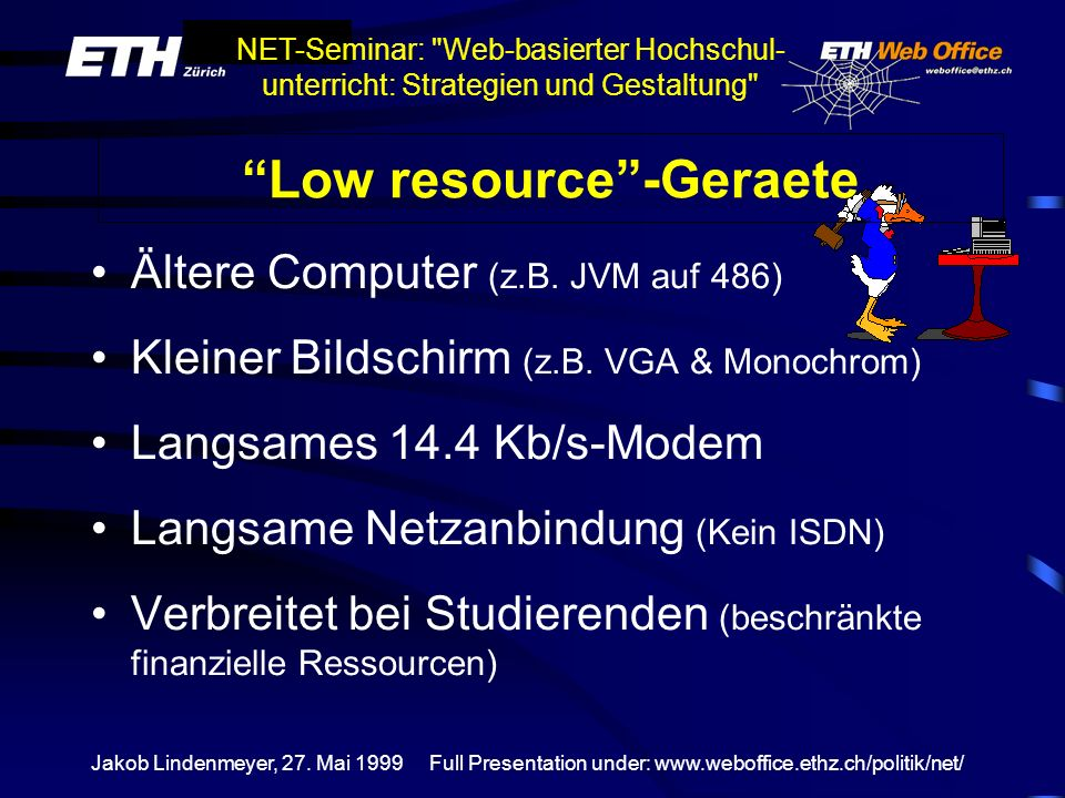 Low resource -Geraete