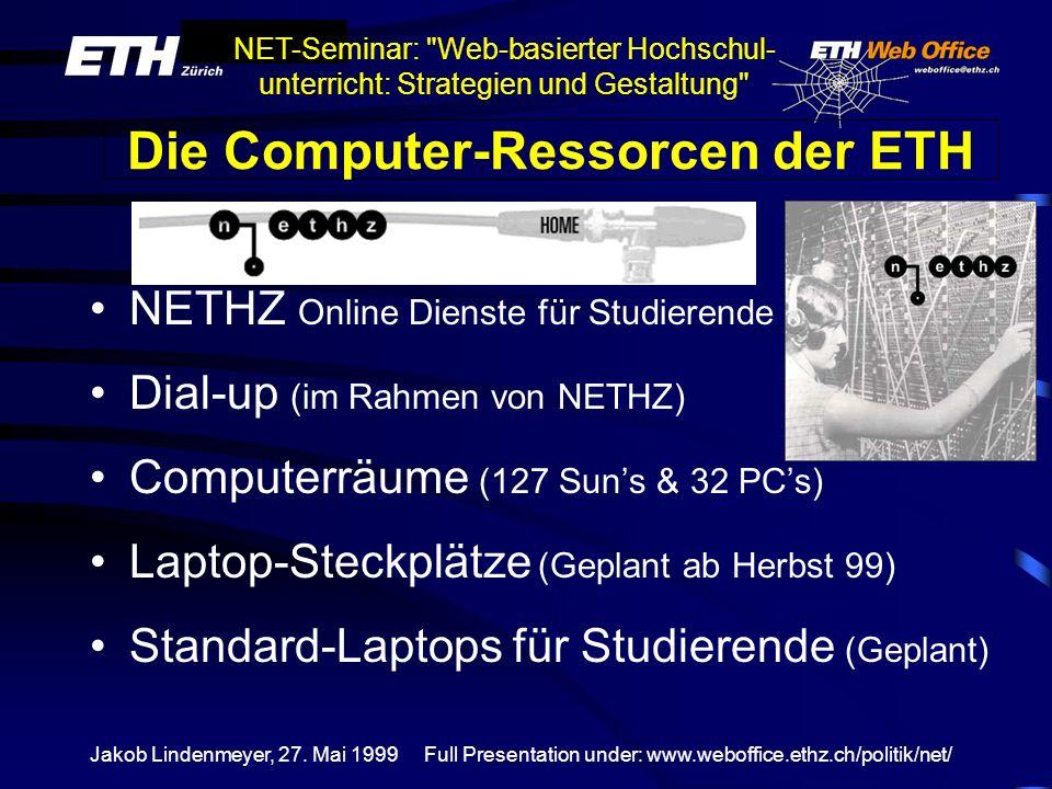Die Computer-Ressorcen der ETH