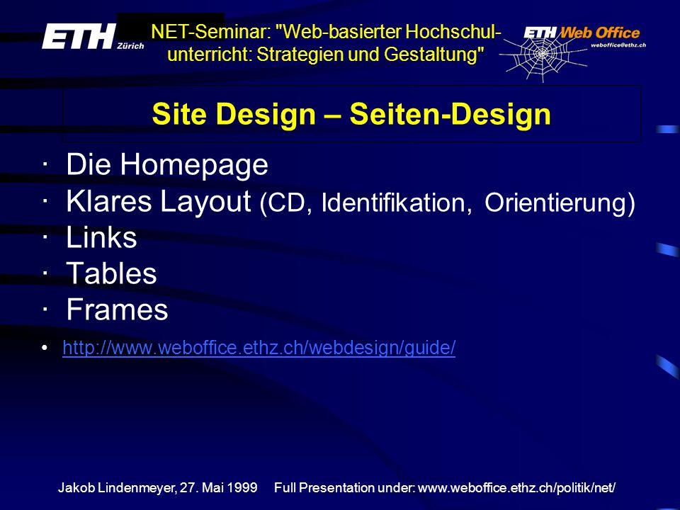 Site Design – Seiten-Design