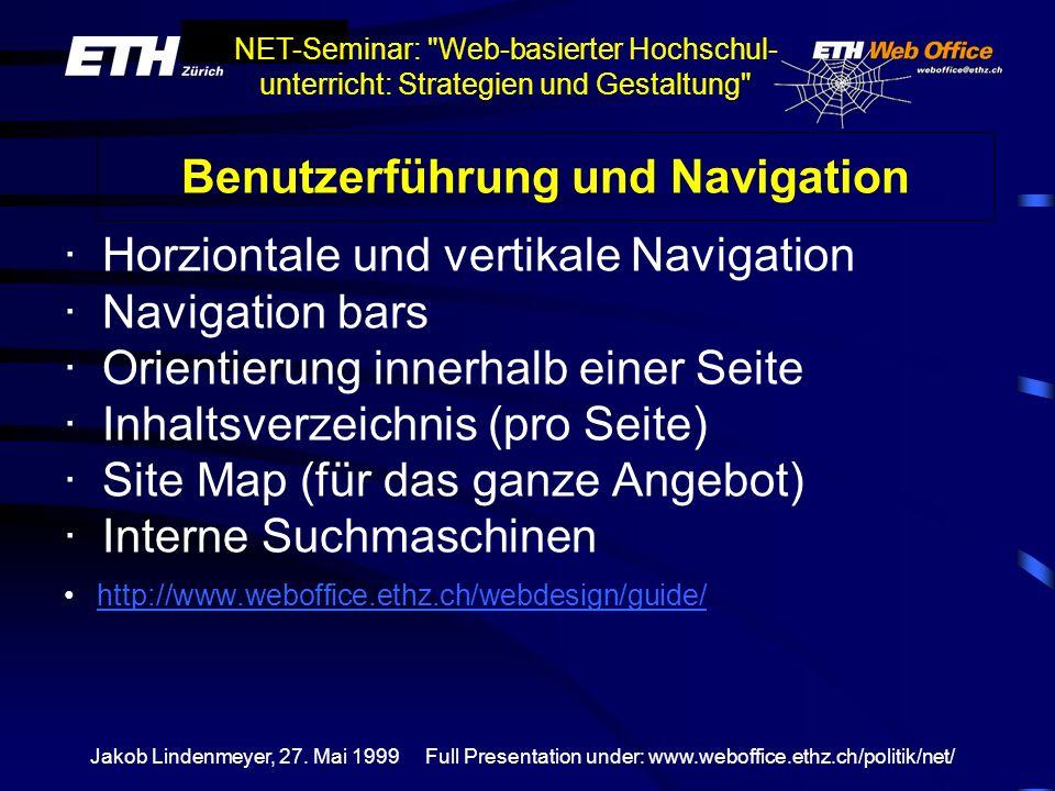 Benutzerführung und Navigation