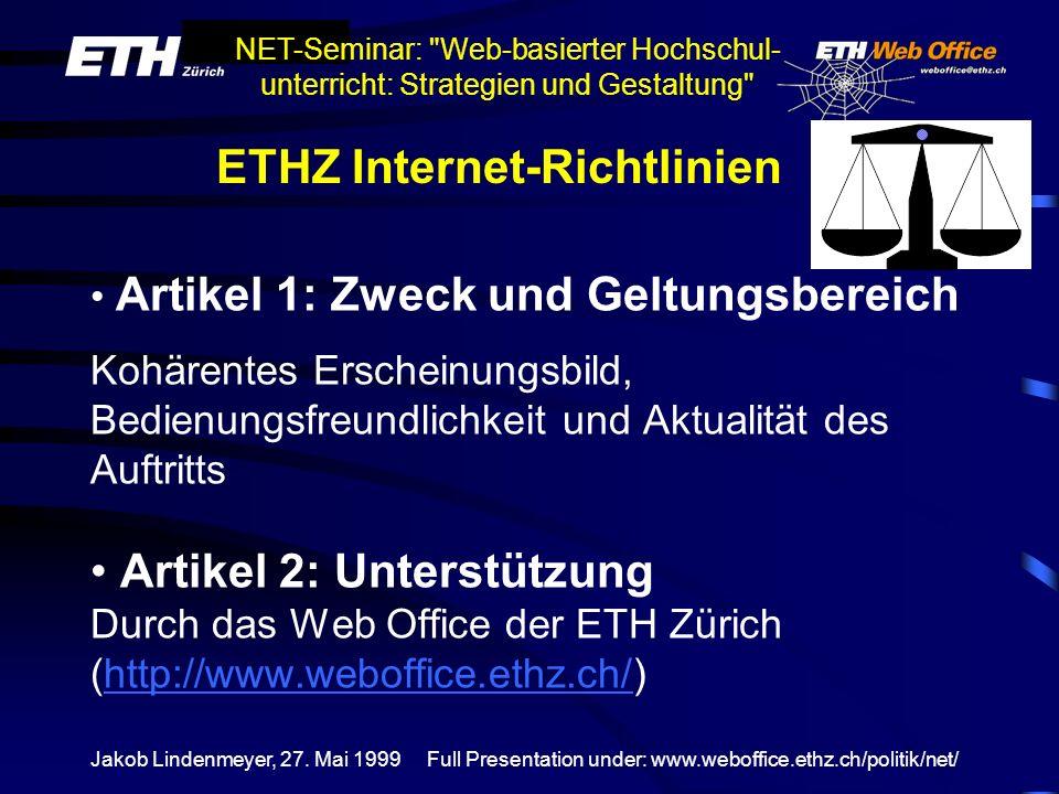ETHZ Internet-Richtlinien