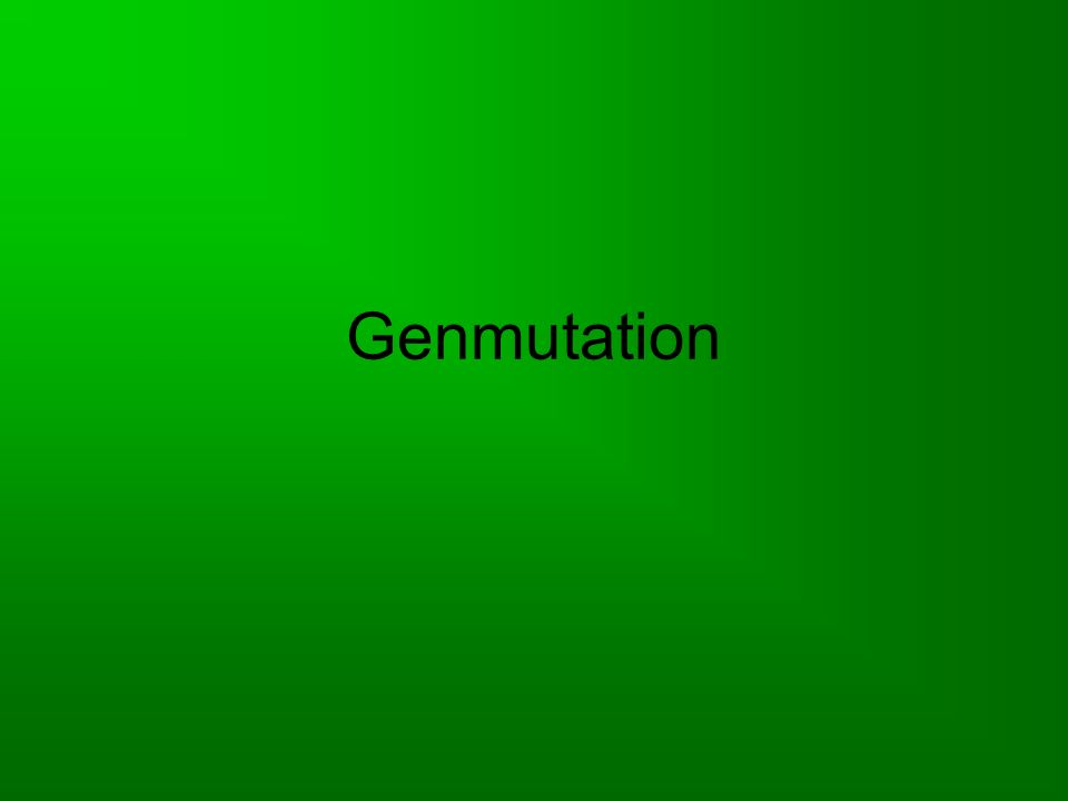 Genmutation