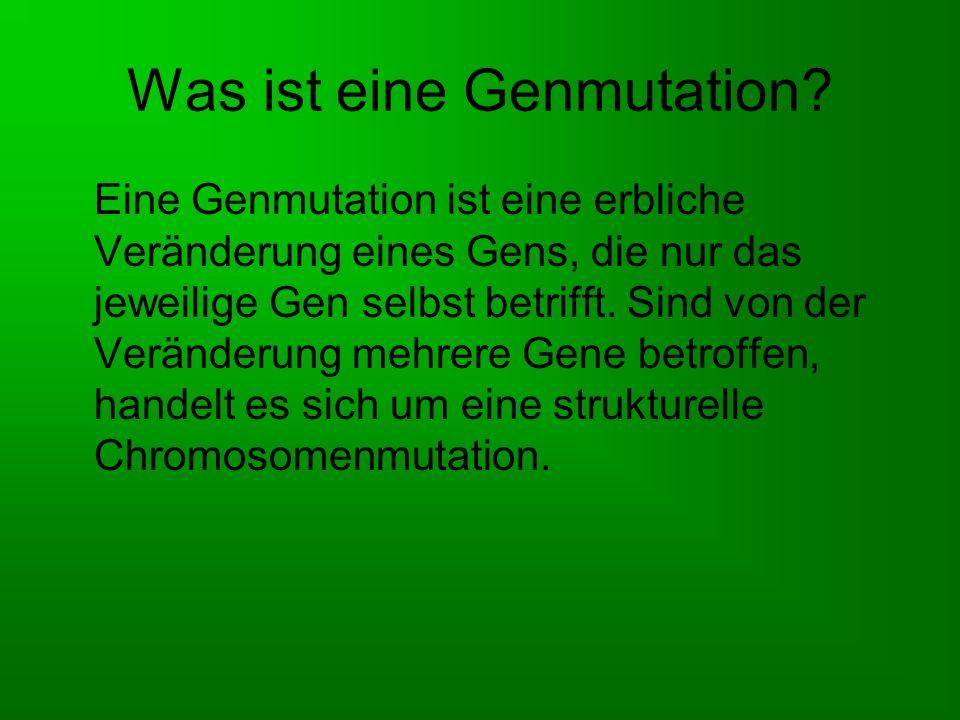 Was ist eine Genmutation