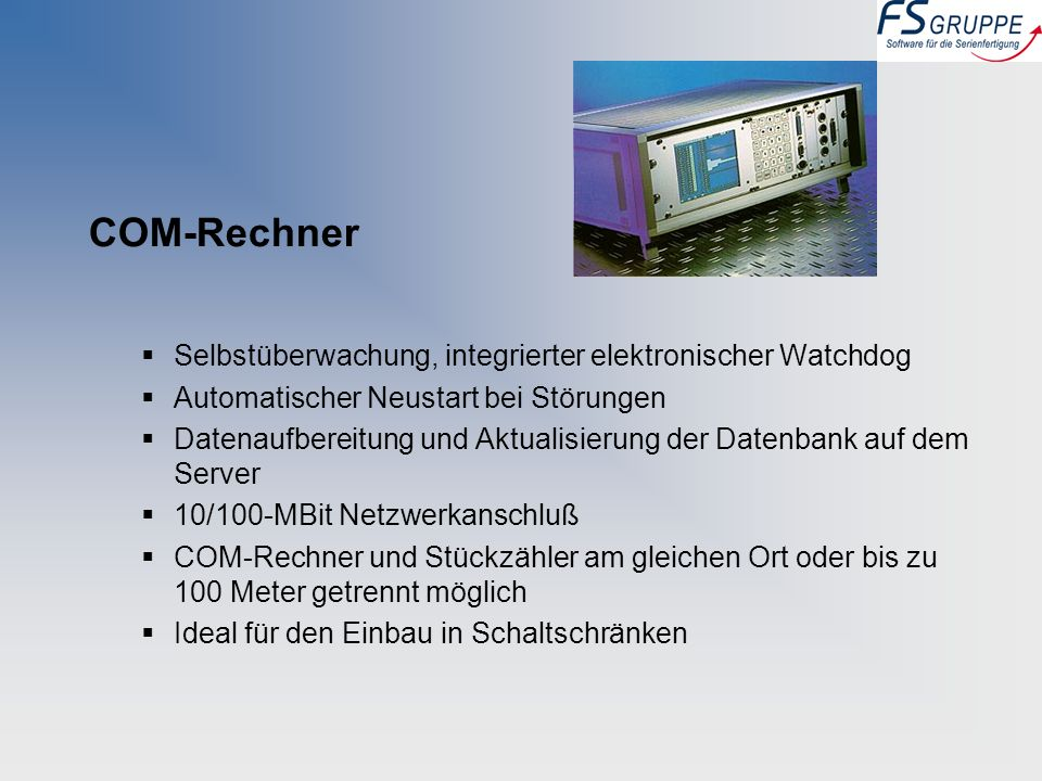 COM-Rechner Selbstüberwachung, integrierter elektronischer Watchdog
