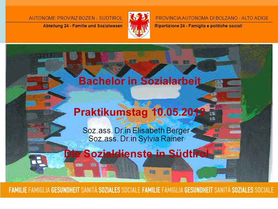 Bachelor in Sozialarbeit Praktikumstag 10.05.2012