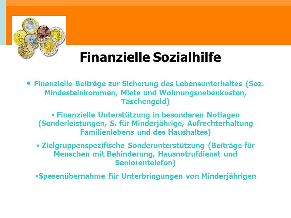 Finanzielle Sozialhilfe