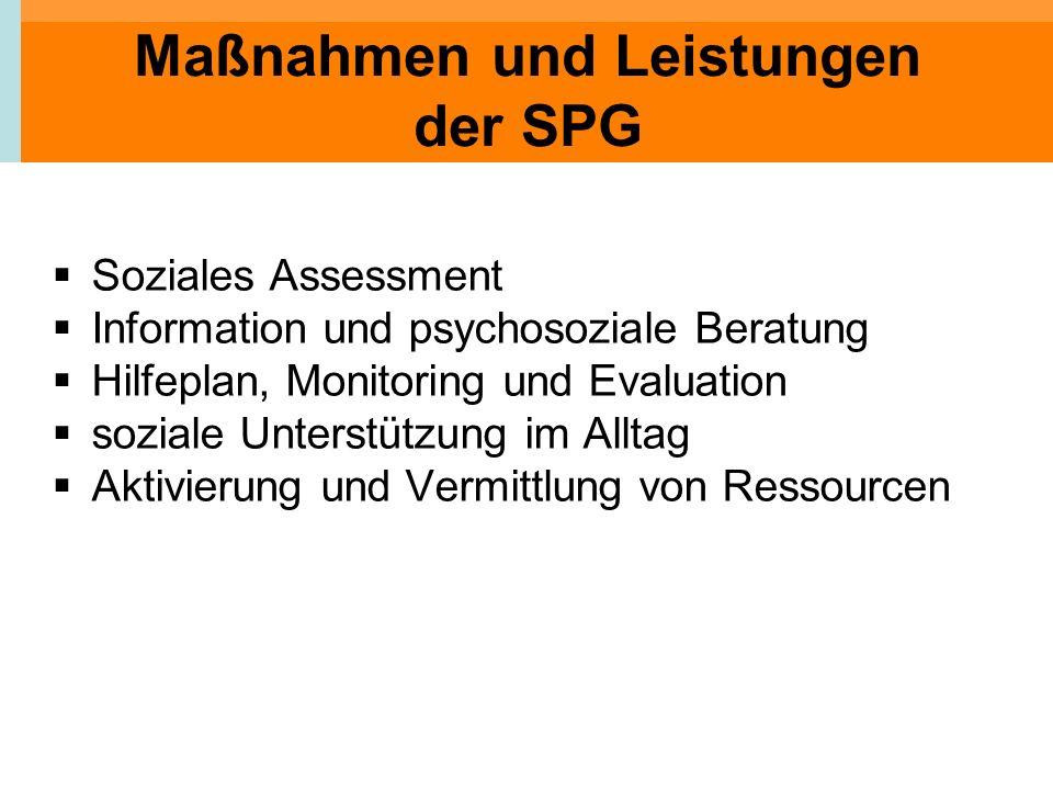 Maßnahmen und Leistungen der SPG
