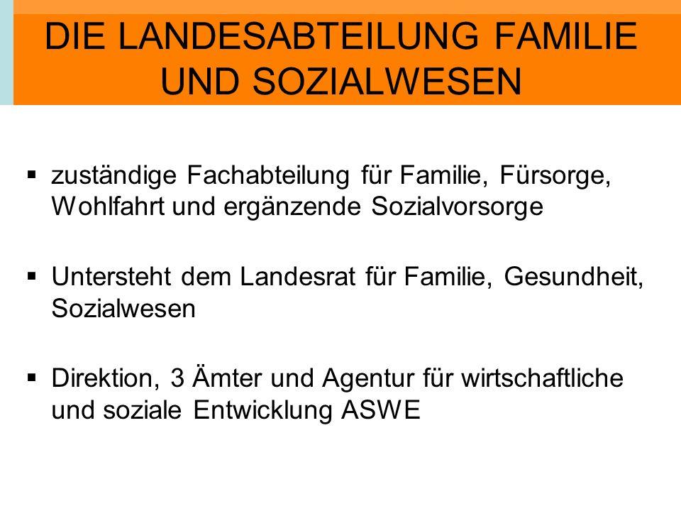 DIE LANDESABTEILUNG FAMILIE UND SOZIALWESEN