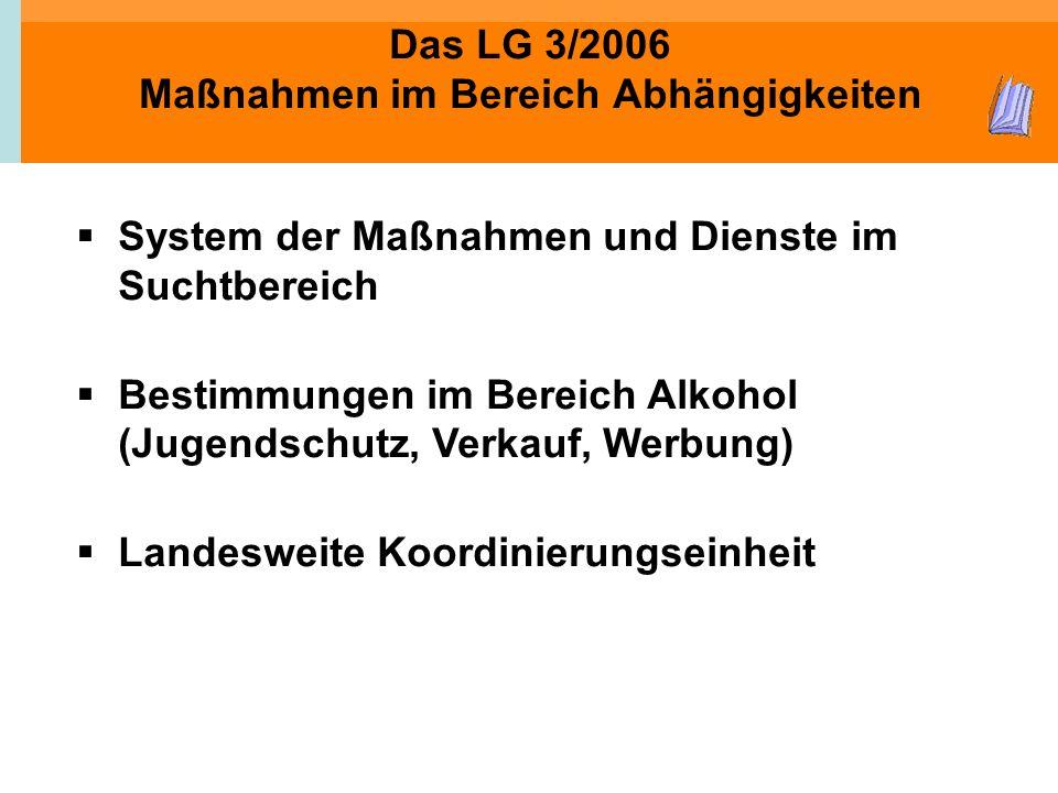 Das LG 3/2006 Maßnahmen im Bereich Abhängigkeiten