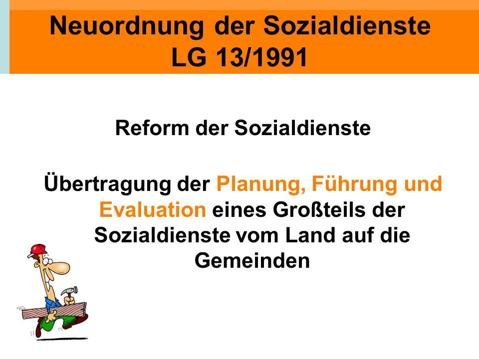Neuordnung der Sozialdienste LG 13/1991