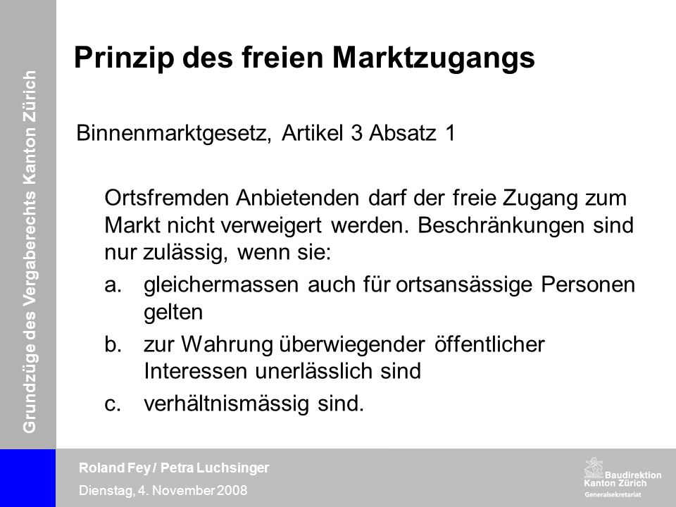 Prinzip des freien Marktzugangs