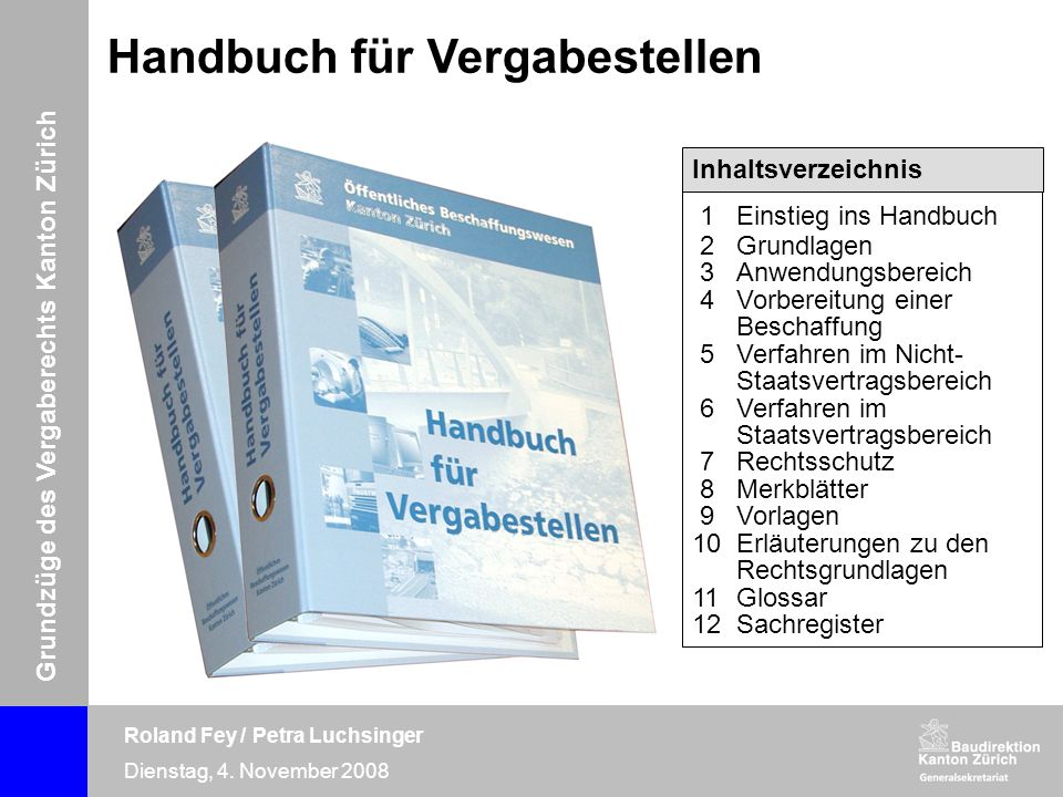 Handbuch für Vergabestellen