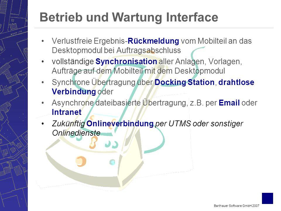 Betrieb und Wartung Interface