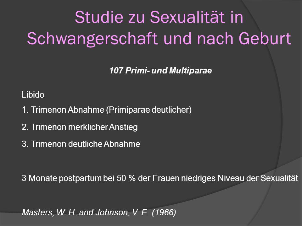 Studie zu Sexualität in Schwangerschaft und nach Geburt