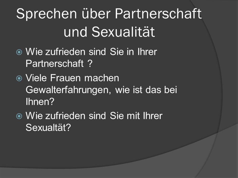 Sprechen über Partnerschaft und Sexualität
